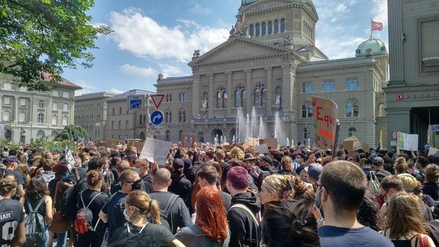 Demo in Bern.