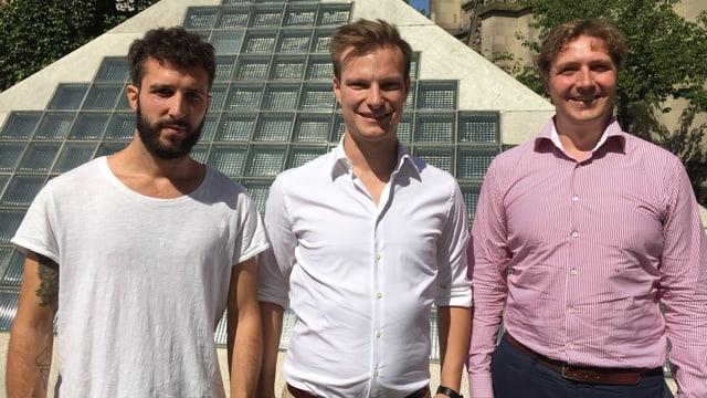 Der aktuelle Festivalpräsident Alain Schnetz und seine Vorgänger Sebastian Kölliker und Tobit Schäfer.