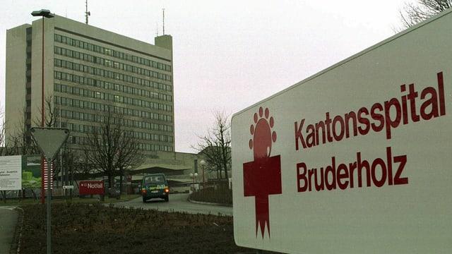 Sicht auf das Bettenhaus des Kantonsspitals