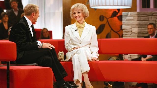 … in dessen Sendung sie auch schon zu Gast war, wie hier im Dezember 2009.