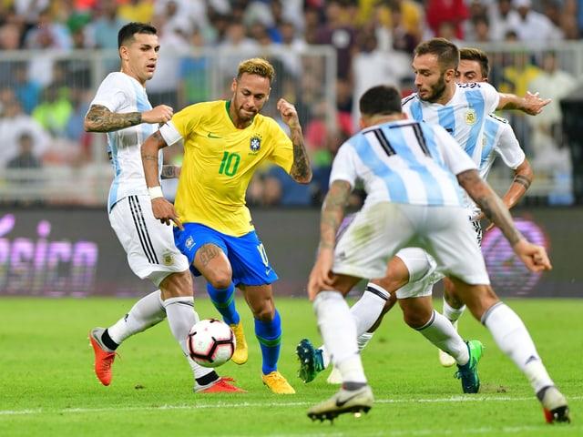 Brasiliens Superstar Neymar.