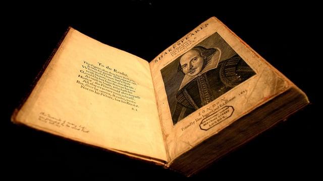Buch von Shakespeare von 1623.