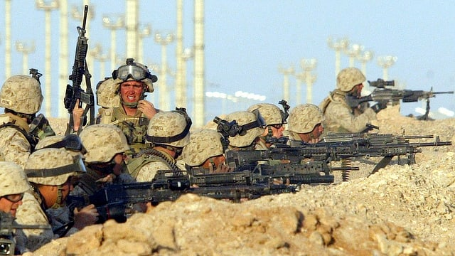 US-Bodentruppen in im irakischen Faludscha.