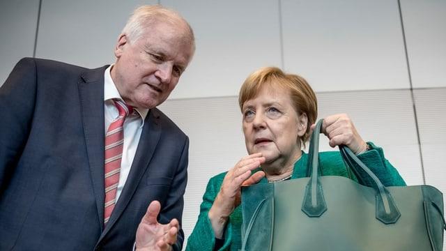 Merkel und Seehofer.