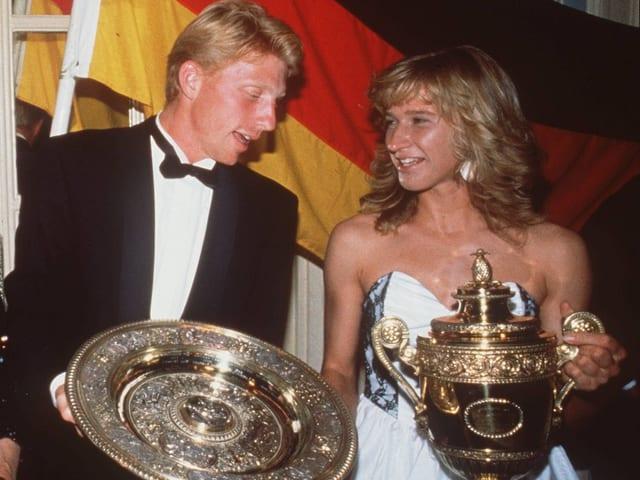Boris Becker und Steffi Graf 1989