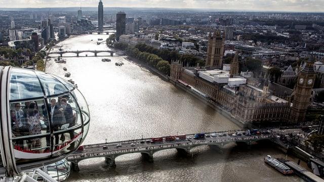 Zu sehen ist die Skyline von London.