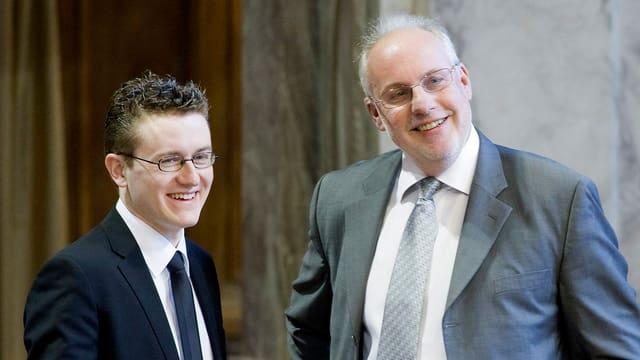 Raphaël Comte und Didier Berberat