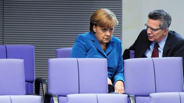 Angela Merkel und Thomas de Maizière.