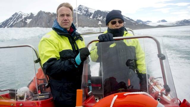 Ban Ki-Moon (rechts) im Juli 2015 auf seiner Norwegen-Reise.