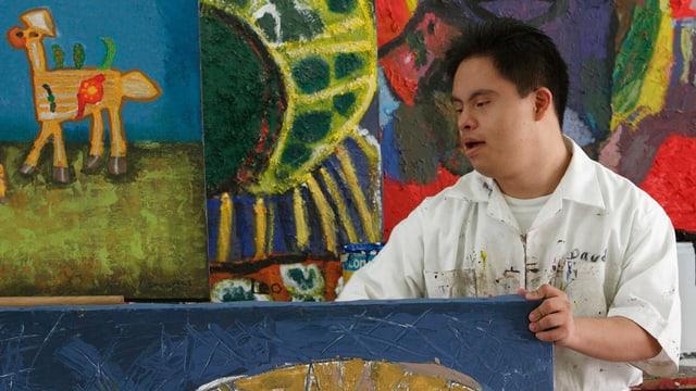 Ein Künstler mit Down-Syndrom