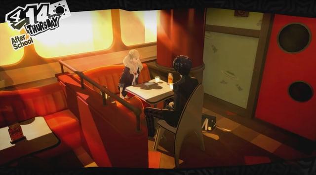 Takamaki und Ananse im Café