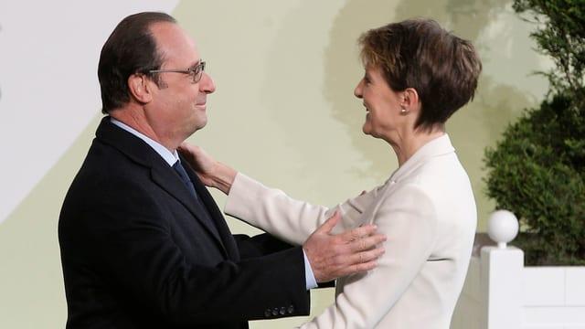 Cordial bainvegni dal president franzos per la presidenta da la Confederaziun, Simonetta Sommaruga.