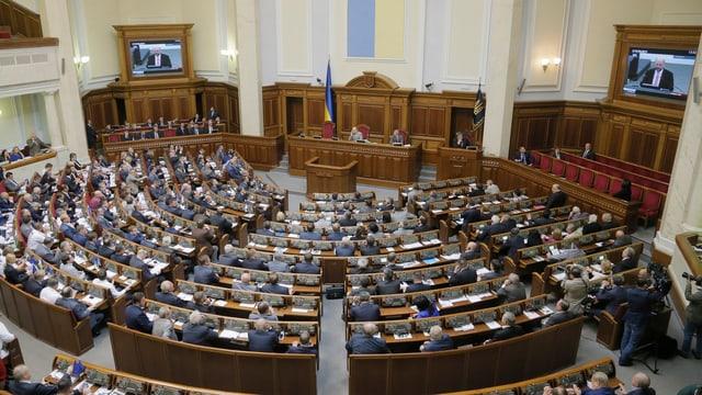 Das ukrainische Parlament tagt.
