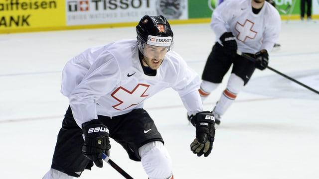 Thibaut Monnet spielt gegen Tschechien.