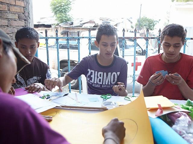 Freizeitprogramme für Kinder in Honduras.