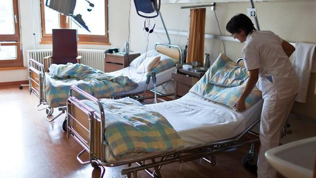 Ina chombra en il Spital regiunal Surselva.