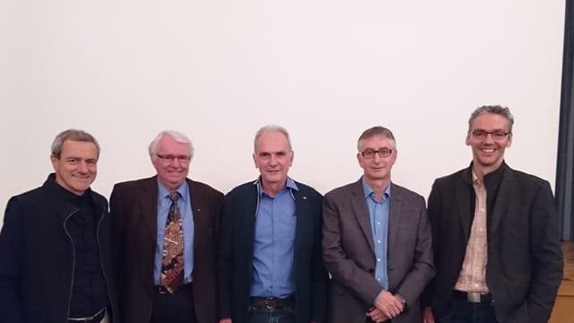 Roland Zegg, Josef Brunner, Aurelio Casanova, Duri Blumenthal e Ernst Sax (da san.).