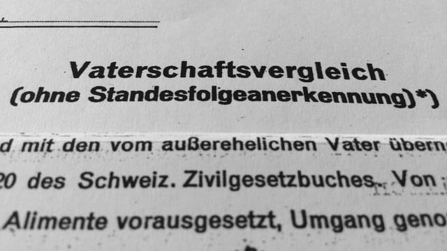 Zahlvater-Vertrag.