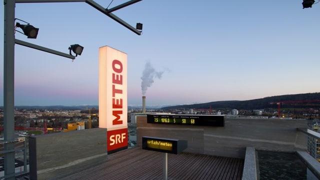 Bild «SRF Meteo»-Studio auf dem Dach des Fernsehhochhauses