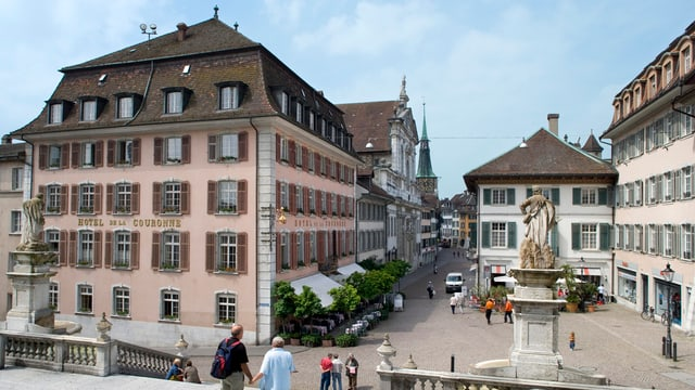 Das Traditionshaus an bester Lage in der Stadt Solothurn: Das Restaurant und Hotel Krone.