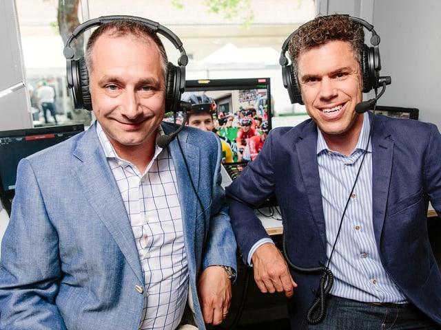 Claude Jaggi und SRF-Experte Sven Montgomery
