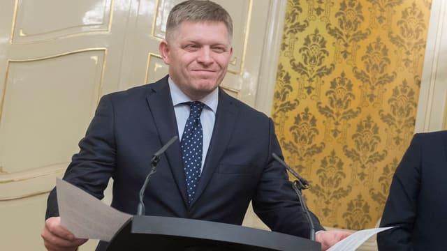 Der slowakische Regierungschef Robert Fico.