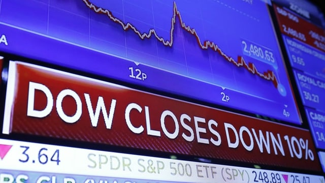 Bild, das den Aktienkurs Dow Jones zeigt.