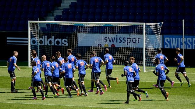 FC Luzern beim Vorbereitunstraining vor dem Europa League Start am Donnerstag.