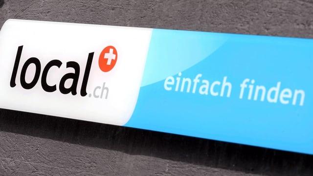Das Schild von local.ch
