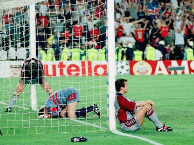 Verzweifelte Bayern-Spieler 1999