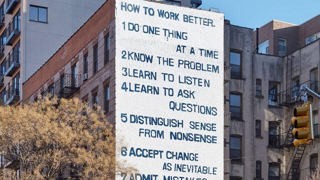 «How to work better» von Fischli & Weiss. Ein Klassiker unter den Selbstmotivation-Mantras und ein Leitfaden zur Selbstständigkeit?