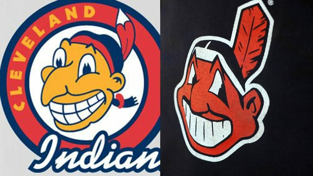 Zwei Logos der Cleveland Indians
