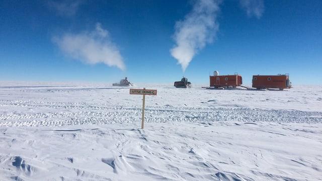 Eisige Verhältnisse: Bis minus 80 Grad Celsius im Winter und auch im Sommer nie wärmer als minus 25 Grad.