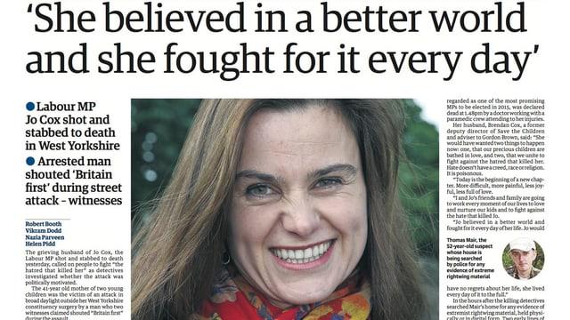 Titelseite des «Guardian»
