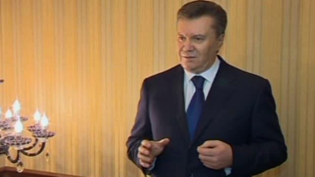 Janukowitsch im Fernsehen