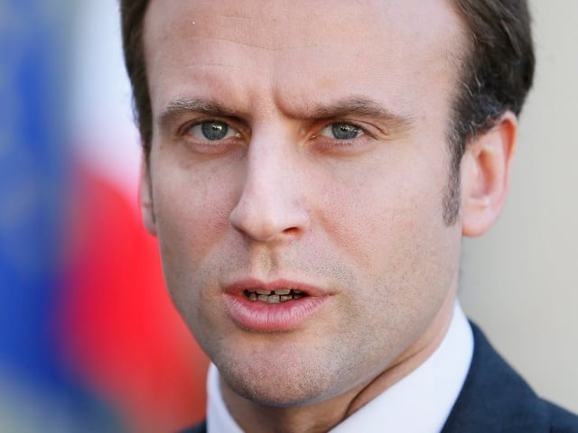 Ein Porträt von Emmanuel Macron.