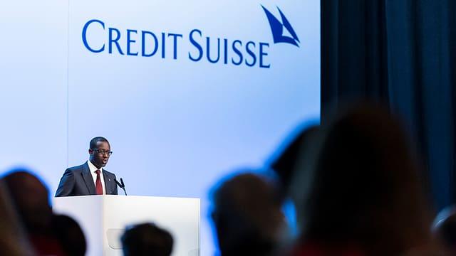 Il CEO da la Credit Suisse, Tidjane Thiam a la radunanza generala extraordinaria.