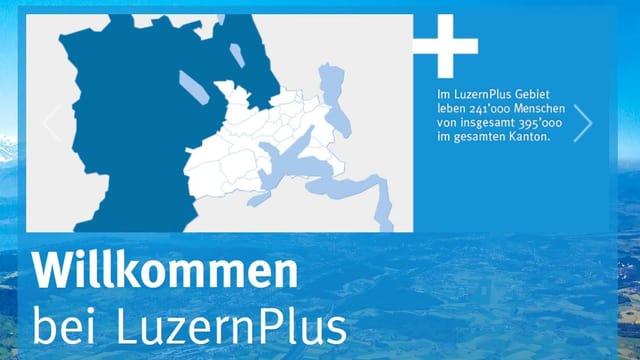 Karte der Gemeinden von LuzernPlus.