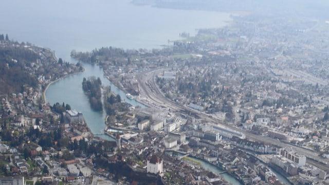 Luftaufnahme von Thun