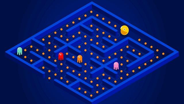 Pac-Man ist stets auf der Suche nach dem nächsten Kick in Form von kleinen Pillen.