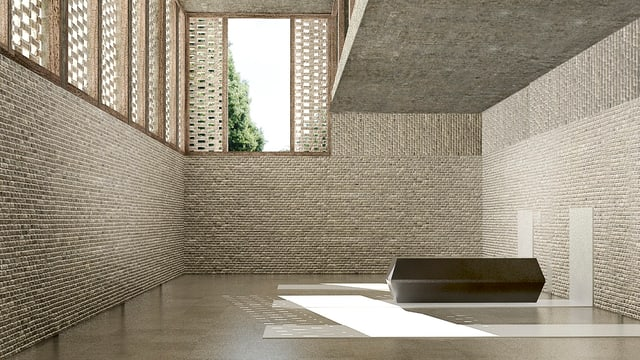 So soll der Ofenraum des geplanten Krematoriums aussehen.