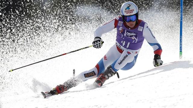 Gino Caviezel verpasste die Qualifikation für den 2. Lauf nur knapp.