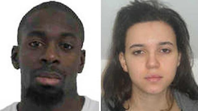 Hayat Boumeddiene – Freundin des Attentäters vom jüdischen Supermarkt in Paris (links) – soll bereits in Syrien sein.