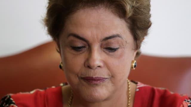 Grossaufname von Dilma Rousseff