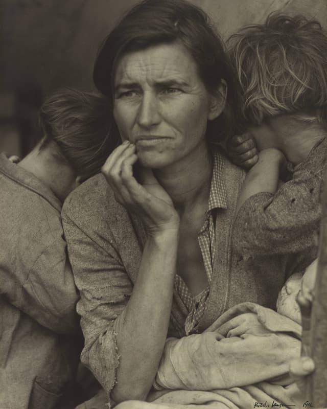 Fotografie mit dem Titel «Migrant Mother»