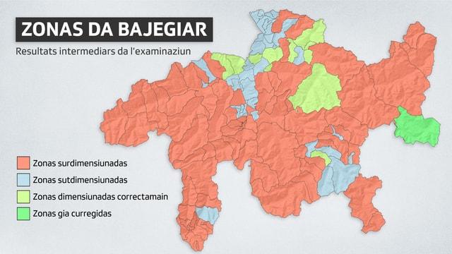 carta geografica dal Grischun cun las zonas da construcziun