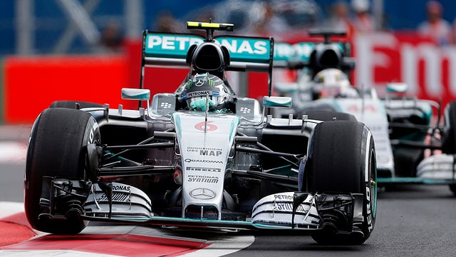 Nico Rosberg en ses Ferrari.