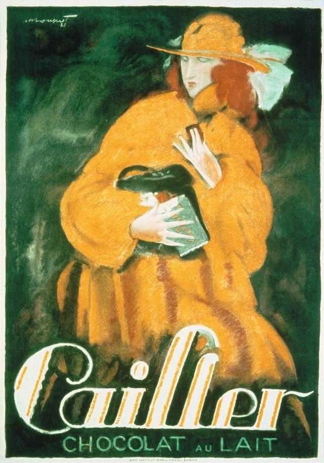 Werbeplakat vom Anfang des 20. Jahrhunderts für Cailler-Milchschokolade