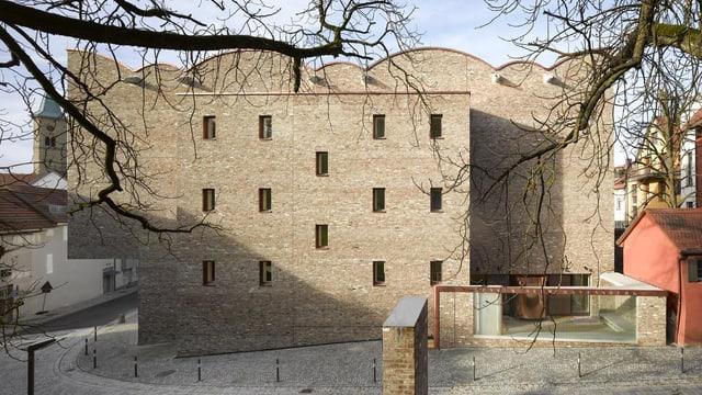 Fassade des neuen Kunstmuseums in Ravensburg.