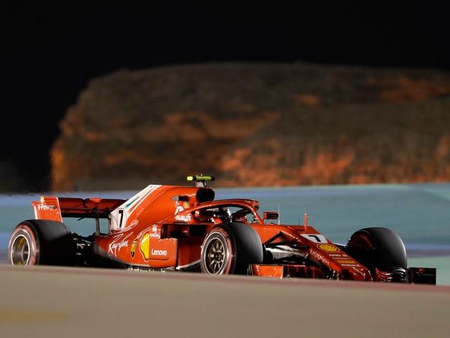 Ferrari-Pilot Kimi Räikkönen im Training.
